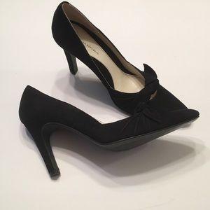 Black Suede High Heel Dress Pump Banana Republic